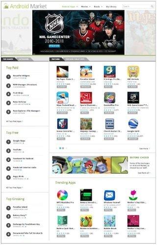 Google añade novedades para buscar aplicaciones en el Android Market versión web