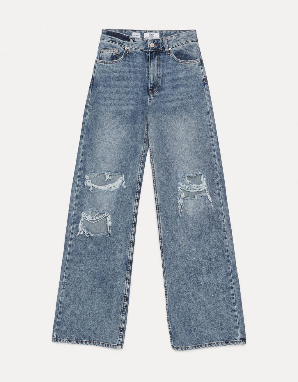 Jeans 90's Flare con rotos.