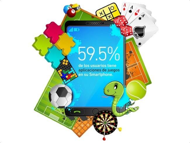 Infografía juegos en el móvil