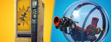 Llega el boloncho a Fortnite y las máquinas expendedoras serán gratis con el parche v8.10