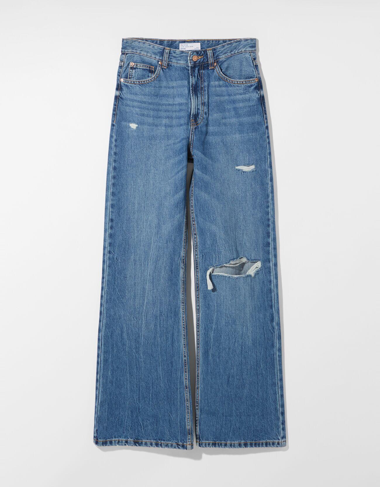Jeans 90's rotos.