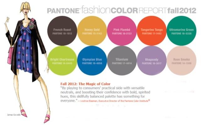 Colores Pantone otoño-invierno 2012