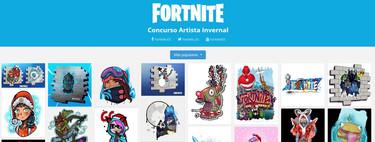 Ya puedes elegir el próximo grafiti que aparecerá en Fortnite, uno creado por la comunidad gracias al concurso Artista Invernal