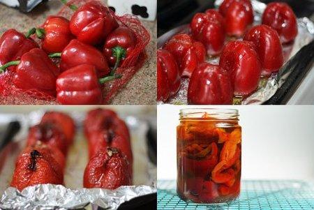 Hacer pimientos rojos asados