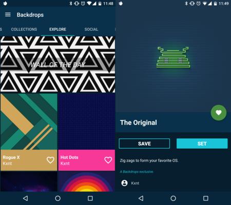 Backdrops es a lo que cualquier aplicación de fondos para Android debería aspirar