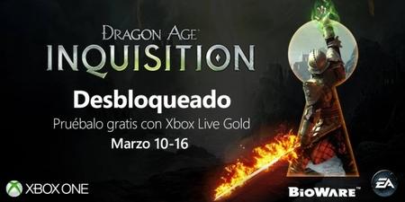 Si eres Gold puedes jugar al Dragon Age: Inquisition de Xbox One de forma gratuita por tiempo limitado