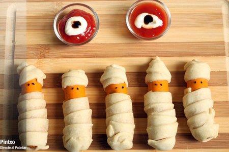 Receta de salchichas momia para Halloween