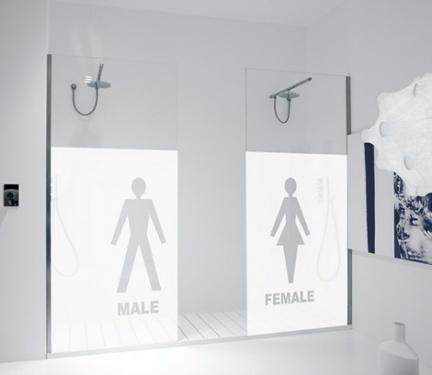 Shower box, puertas para duchas decoradas por Antonio Lupi