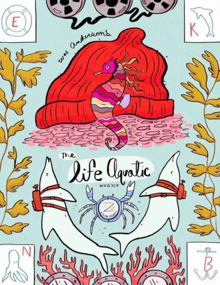 El universo de Wes Anderson ilustrado por Natalie Andrewson
