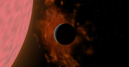 R Leonis Evaporating Planet