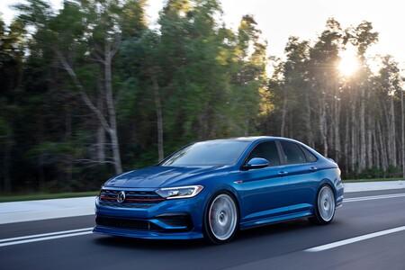 El Volkswagen Jetta GLI Blue Lagoon Concept es un homenaje a la historia del GLI, aunque sólo para exhibición
