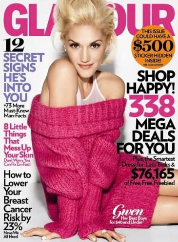 Gwen Stefani para la revista Glamour Octubre 2009