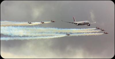 Resumen en vídeo de las ocho horas de exhibiciones aéreas del Festival Internacional #Aire75