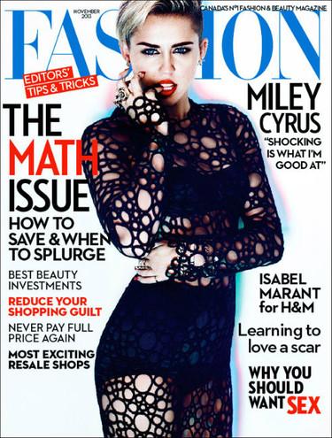Y otra portada para Miley Cyrus, con más ropa y más Liam