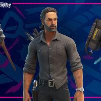 Rick Grimes de The Walking Dead llega a Fortnite en su evento de Halloween junto con dos personajes más