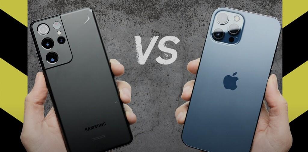 El iPhone 12 Pro Max gana al Samsung Galaxy S21 en un test de caídas