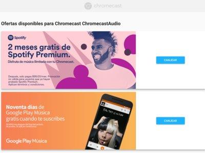 Dos meses de Spotify y tres meses de Play Music gratis si tienes un Chromecast en México