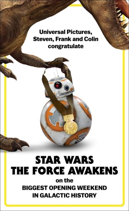 Taquilla: 'Star Wars: El despertar de la fuerza' consigue el mayor estreno de la historia (ACTUALIZADO)