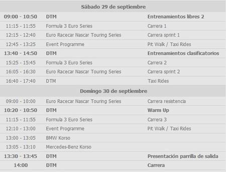 Horarios DTM 2012
