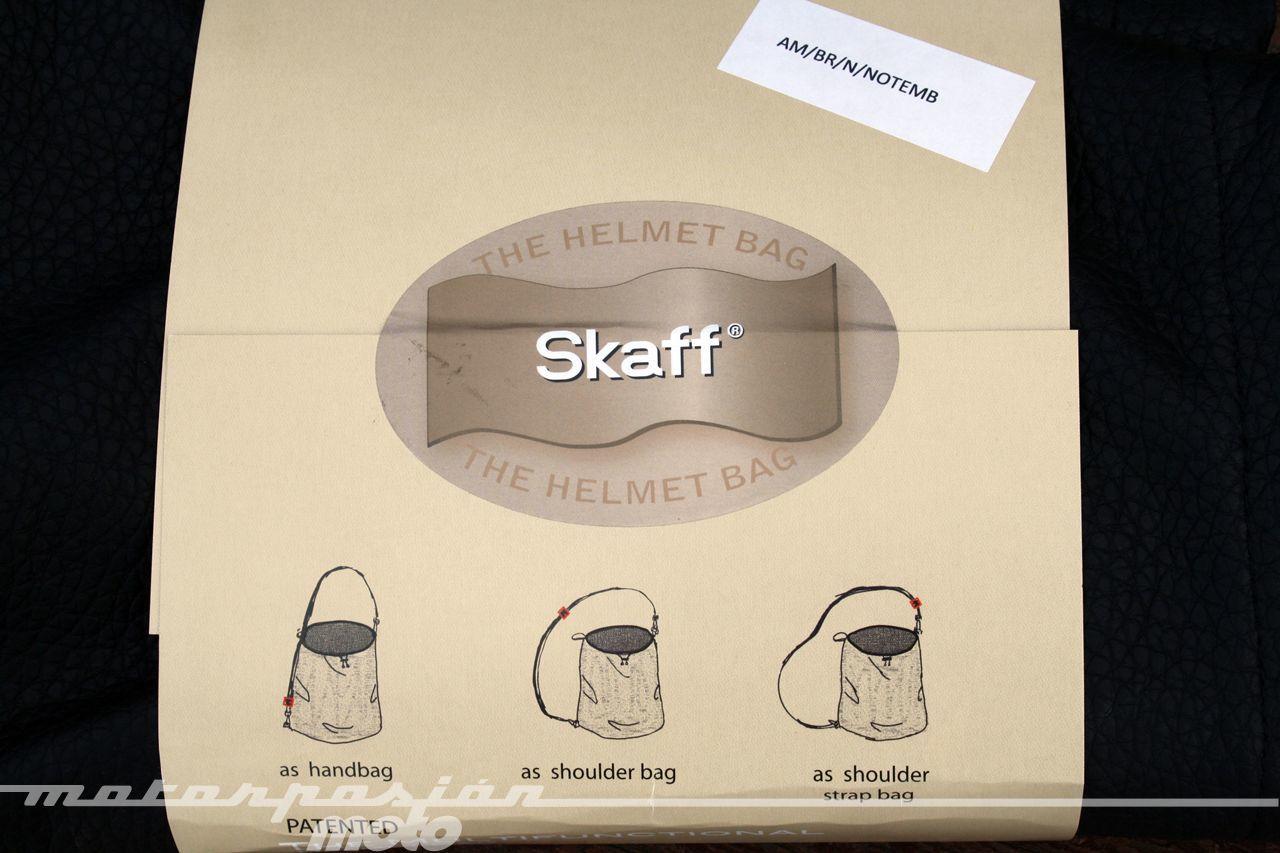 Funda para casco Skaff, prueba
