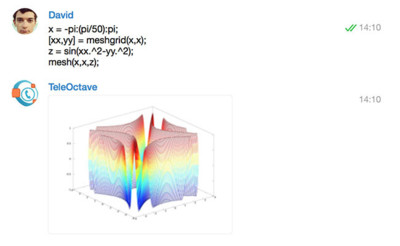 TeleOctave, la potencia de cálculo de Octave a través de un chat en Telegram