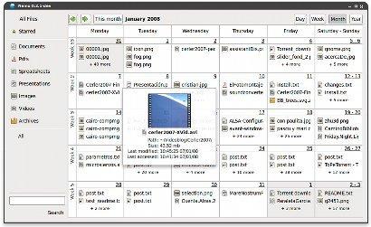 Nemo: un original cruce entre navegador de archivos y calendario