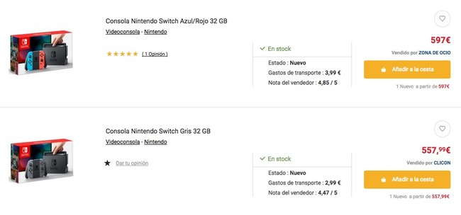 Nintenfo Switch Fnac