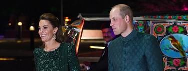 Kate Middleton deja las túnicas y viste un vestido de Jenny Packham para la primera cena de gala en Pakistán