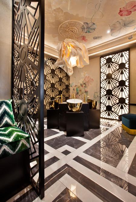 Manhattan, el proyecto de Viteri/Lapeña en Casa Decor Madrid 2018, un baño íntimo y muy elegante
