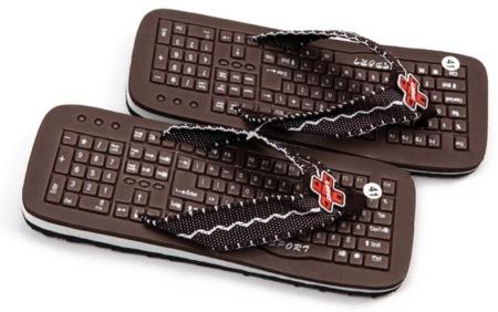 Sandalias teclado, cómodas no parecen