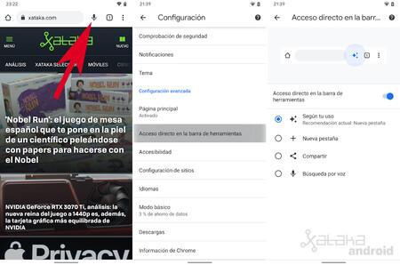 Chrome Acceso Directo Barra Herramientas