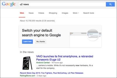 Google rogándole a los usuarios de Firefox ser su buscador por defecto. La imagen de la semana