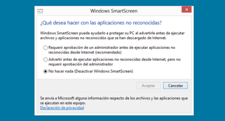 Configuración Windows SmartScreen