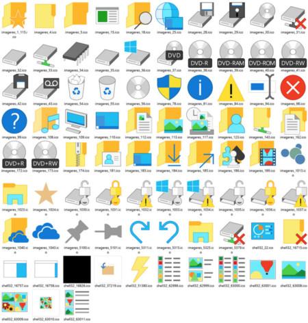 La build 10036 de Windows 10 traerá 83 nuevos iconos
