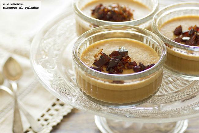 Crema de caramelo con praliné