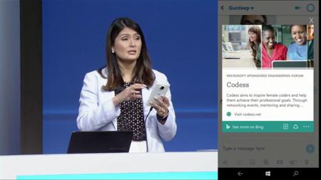 Información contextual en Cortana