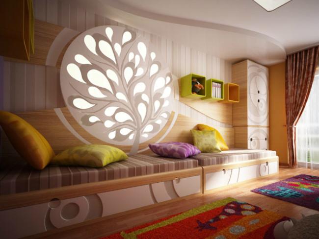 Dormitorio infantil texturas