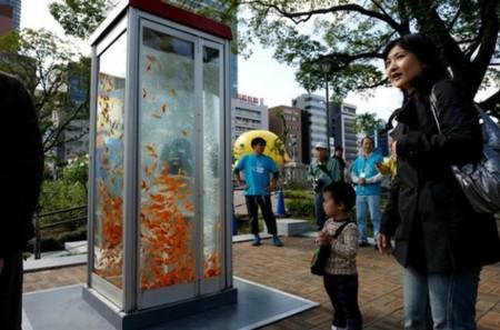 Buendiario Japon Artistas Crean Peceras Telefonos Publicos