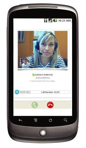 Skype Mobile con videollamadas llegará a Android este año