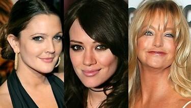 Drew Barrymore, Hilary Duff y Goldie Hawn... también sin maquillar.
