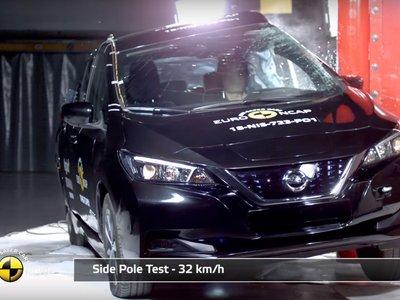 Euro NCAP destroza el Nissan LEAF para darle cinco estrellas y de paso introduce una prueba de detección de ciclistas