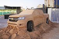 Chevrolet Colorado 2015 ¡hecha con arena de playa!