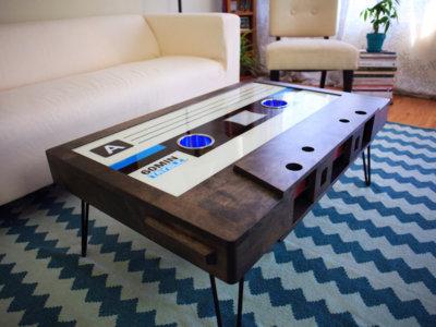 Estas mesas de centro vintage en forma de casete son increíbles