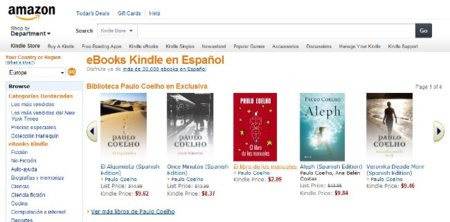 Amazon lanza Ebooks Kindle en español en el mercado de Estados Unidos