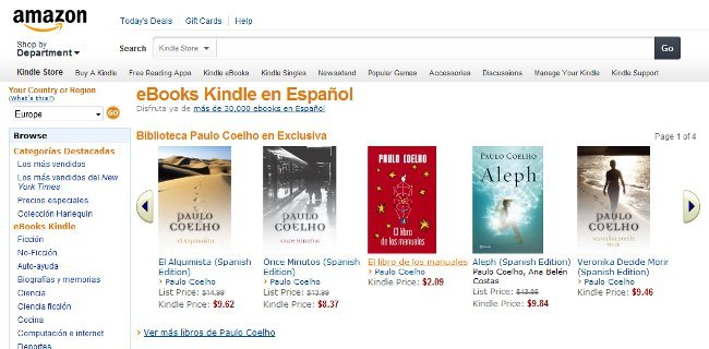Amazon lanza Ebooks Kindle en español llega al mercado americano