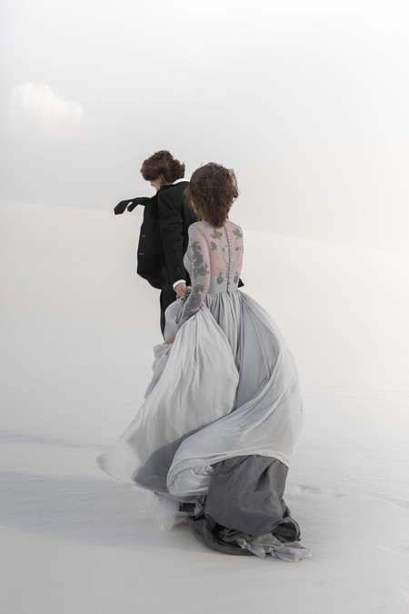 vestido de novia de manga larga