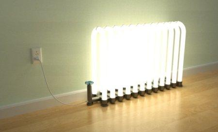radiador encendido