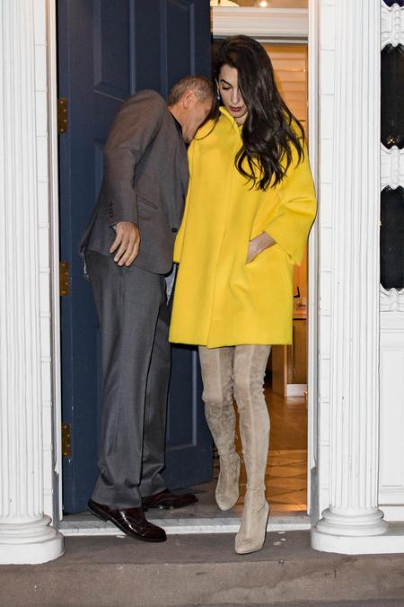 Abrigo Clooney Amal El De Amarillo Queremos HxwFZgTq