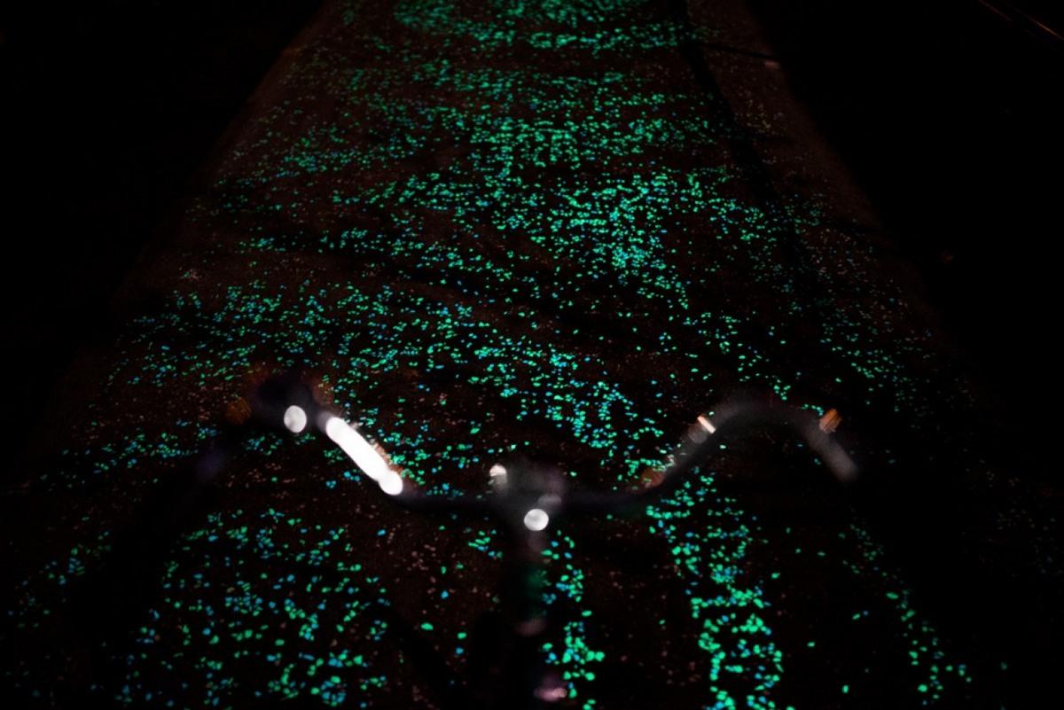 Foto de Carril bici La Noche Estrellada por Studio Roosegarde (2/9)