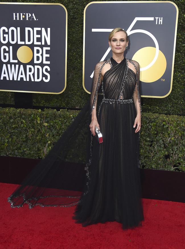 Diane Kruger Prada Globos De Oro 2018